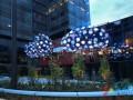 """启发心灵的设计LED灯:""""星云""""灯饰闪烁在西雅图空中"""